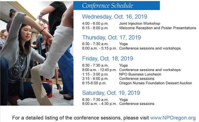 NPO conference schedule